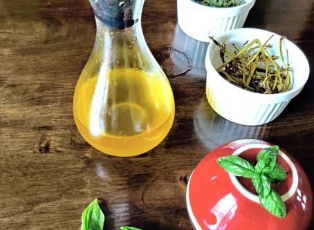 Basil infused oil