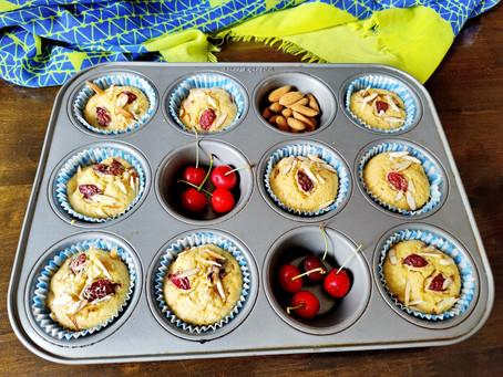 Cherry Almond Cupcake