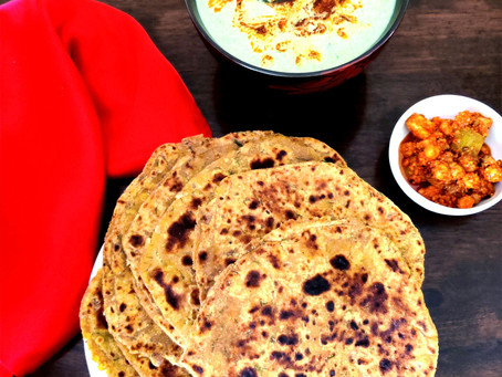 Dal ka Paratha with fresh Dill