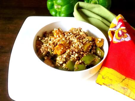 Capsicum Potato with Thecha