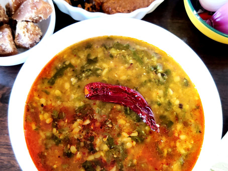 Dal Palak, Red Lentil with Spinach