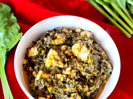 Palak Paneer Bhurji (Shredded Spinach and Cottage Cheese)