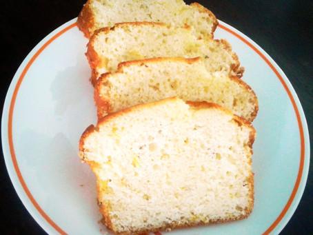 Lemon  mini loaf with  fresh mint