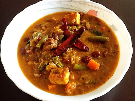 Chettinad Rajma( Kidney Beans) with Veg. And Paneer