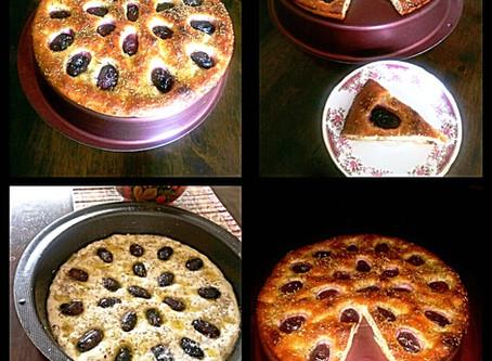 No knead Grapes and Rosemary foccacia