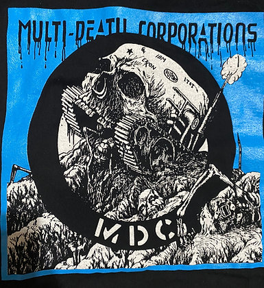 Blue Multi Death Corporation  Shirt
