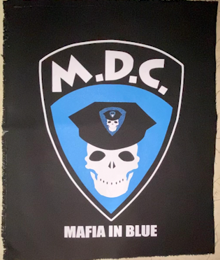 MDC - Skull Badge Back Patch lg.