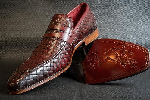 Jeffrey West Soprano Wine Woven Leather