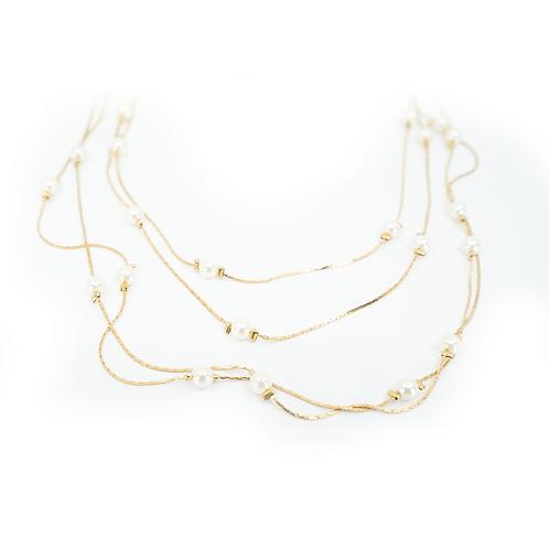 Pearl Rain Drops Necklace