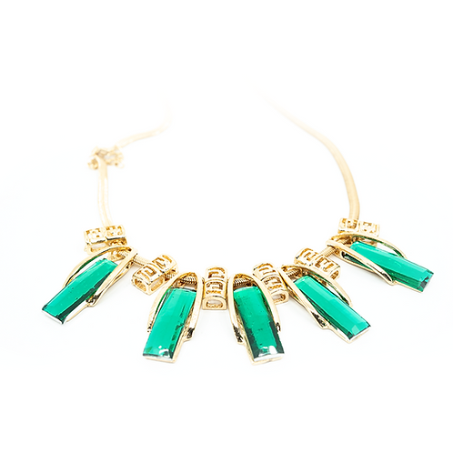 Emerald Baguette Necklace