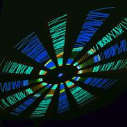 Blue Green Spiral Elipse