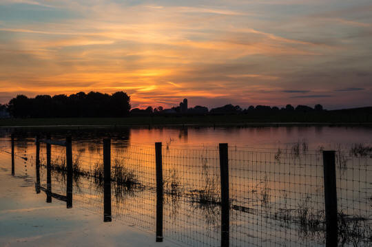 Sunset In The Flood Waters