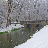 Snow At Stone Bridge