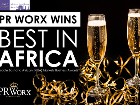 PR WORX AWARDED AS AFRICA'S BEST PUBLIC RELATIONS AGENCY
