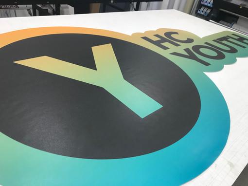 Vinyl wall logos