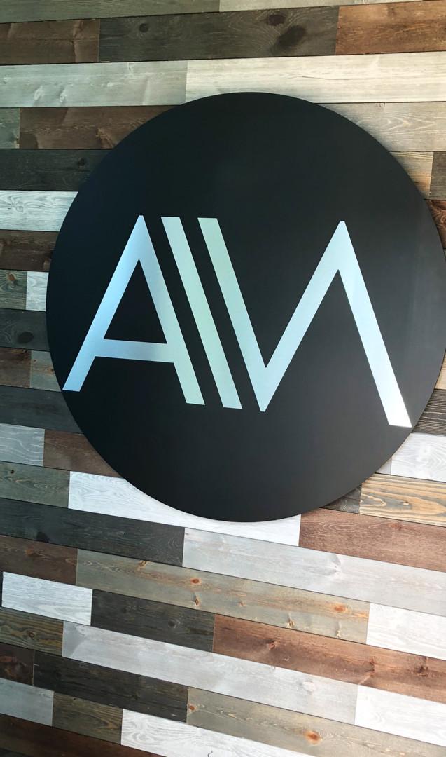 Oversized logo signage