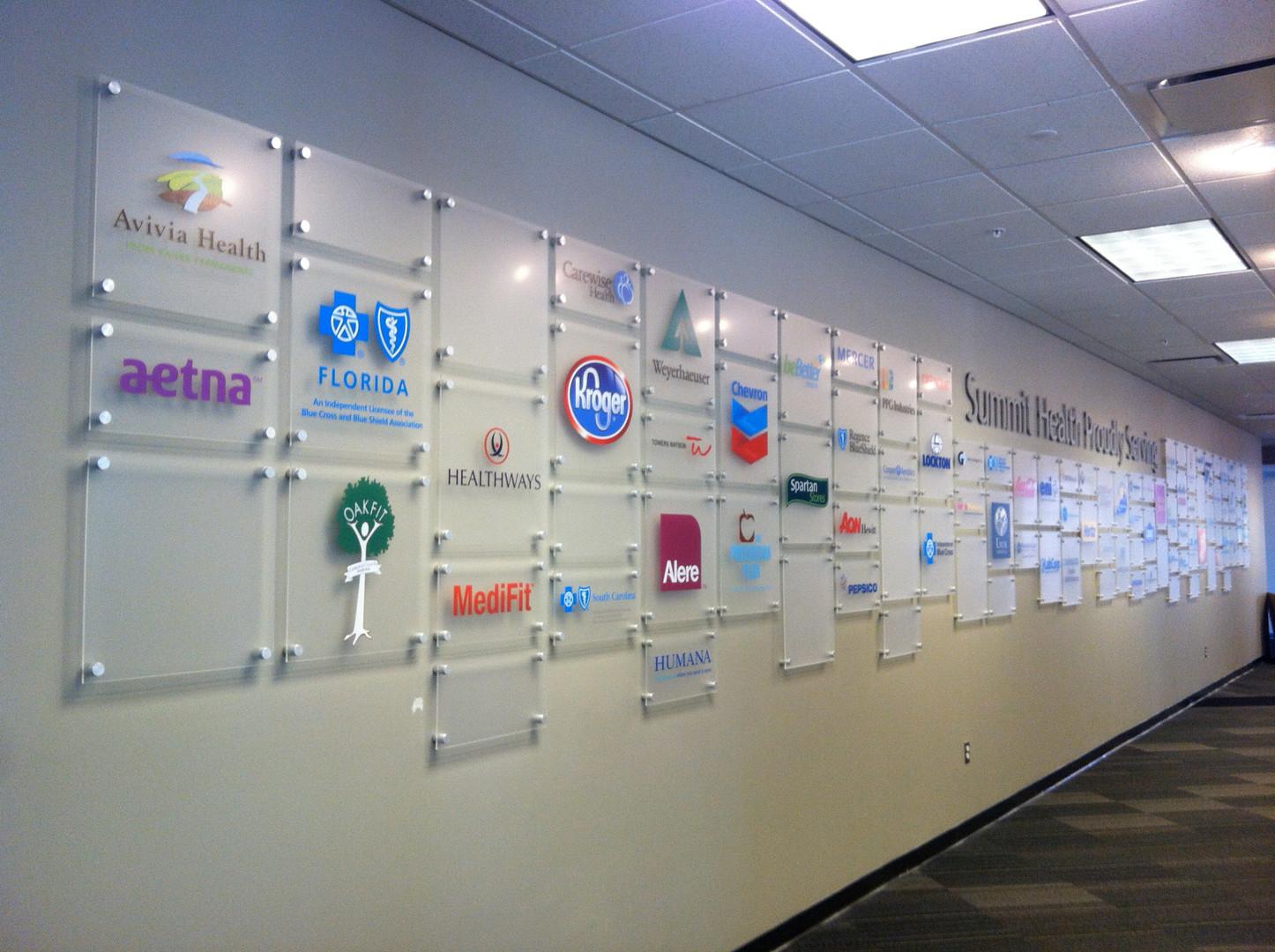 Puck mounted acrylic panels