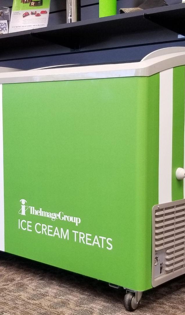 Custom wrap ice cream cart