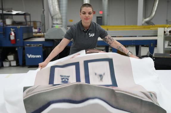 Digitally printed cotton fabric