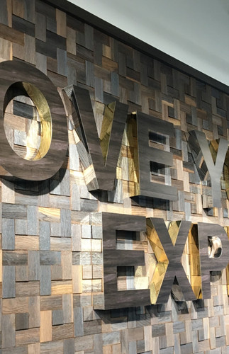 Dimensional metal lettering design