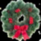 Roter Weihnachtskranz