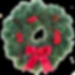レッドクリスマスリース