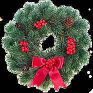 Röd jul Krans