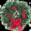 紅色的聖誕花環