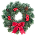 Red Christmas Wreath