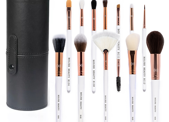 Boujee Beauty 12-Piece Professional Brush Set With Travel Case