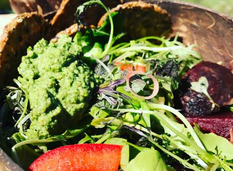 Beet Salad with Basil-Sage Pesto