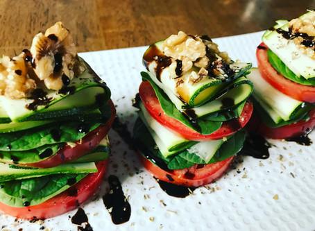 Zucchini Tomato Stacks