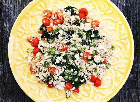Spinach & Tomato Tofu Scramble