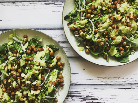 Spiced Chickpea Salad with Avocado Dressing
