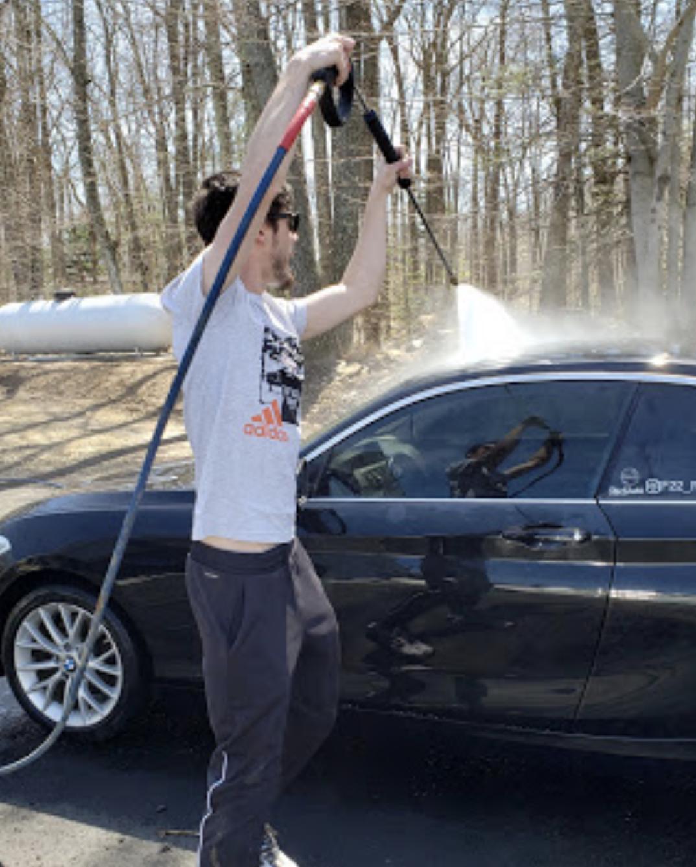 Power Washing a Car