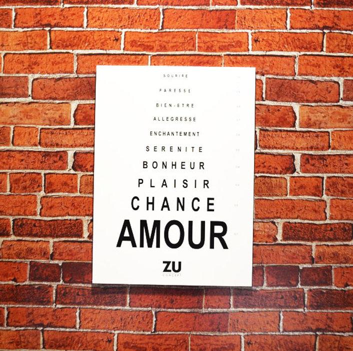 ZU panneau murale du bonheur de l'opticien