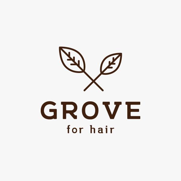 ロゴマークデザイン「GROVE for hair」様