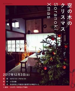 チラシ・フライヤー制作「空の木のクリスマス」様(表面)