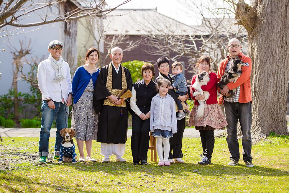加藤家のご家族写真。