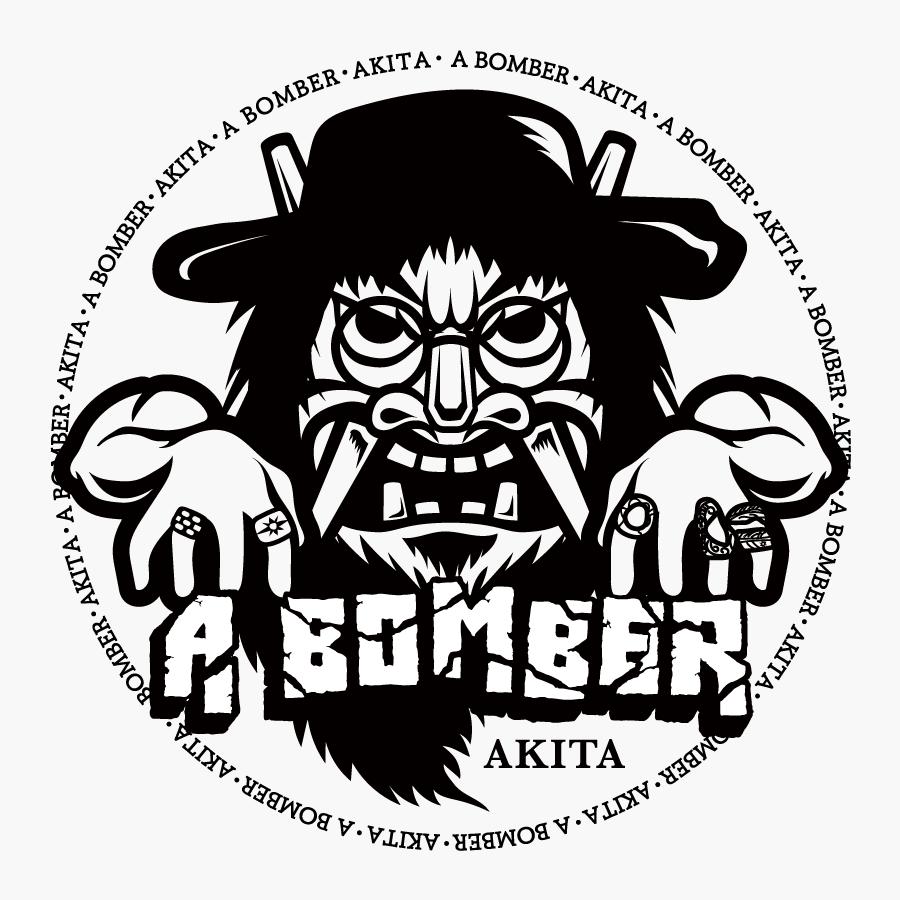 ロゴマーク&ステッカーデザイン制作「A BOMBER AKITA」様