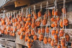 重松の家の干し柿