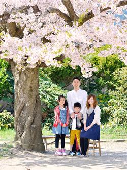 松江家のご家族写真。