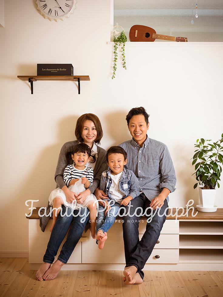 小松家のご家族写真。