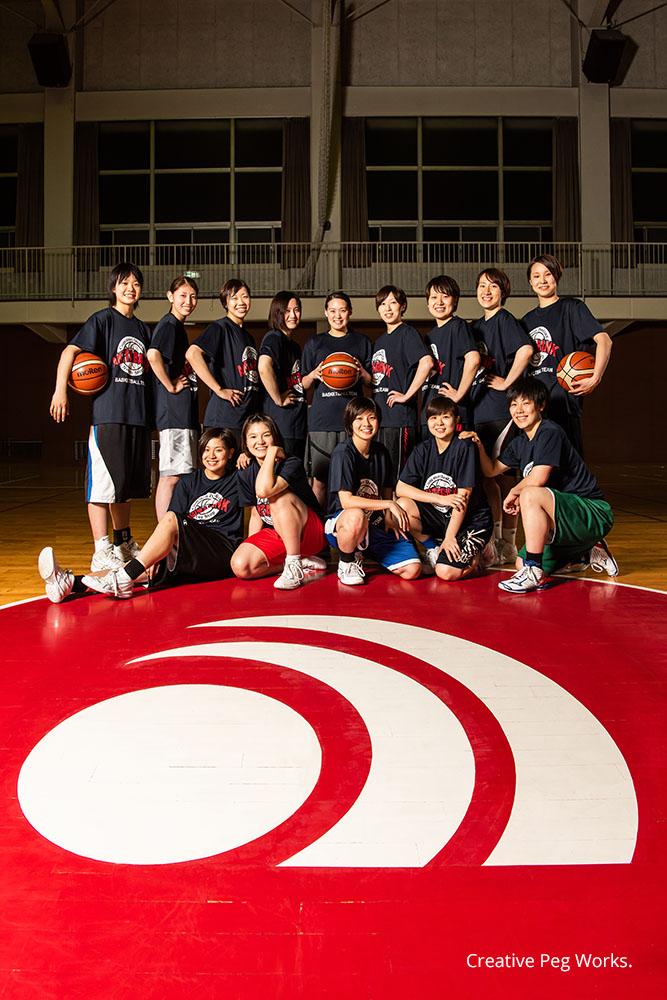 取材撮影「秋田銀行女子バスケットボール」様