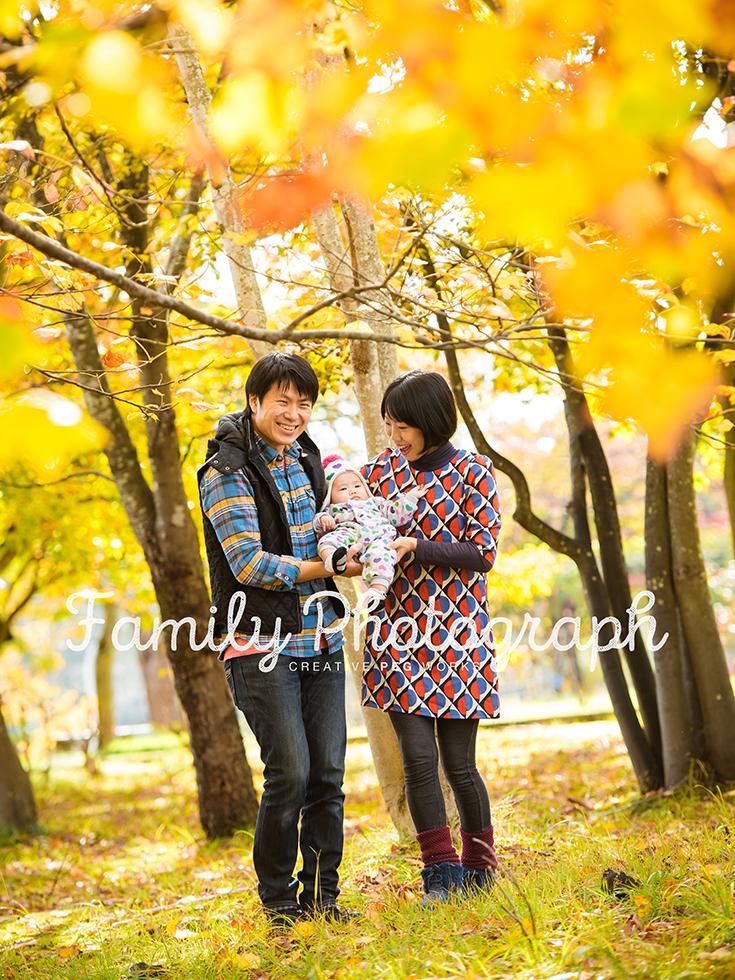 李家のご家族写真。