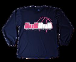 長袖Tシャツデザイン(ピンク)「下新城ミニバスケットボール」様