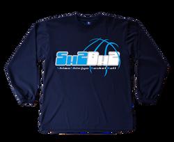 長袖Tシャツデザイン(ブルー)「下新城ミニバスケットボール」様