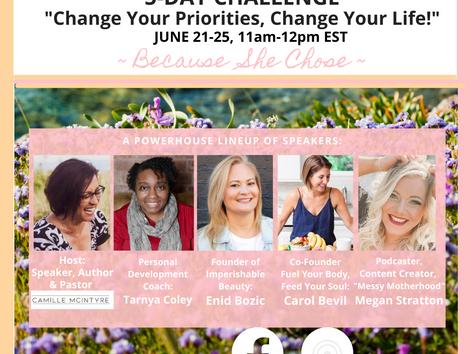 Change Your Priorities, Change Your Life!