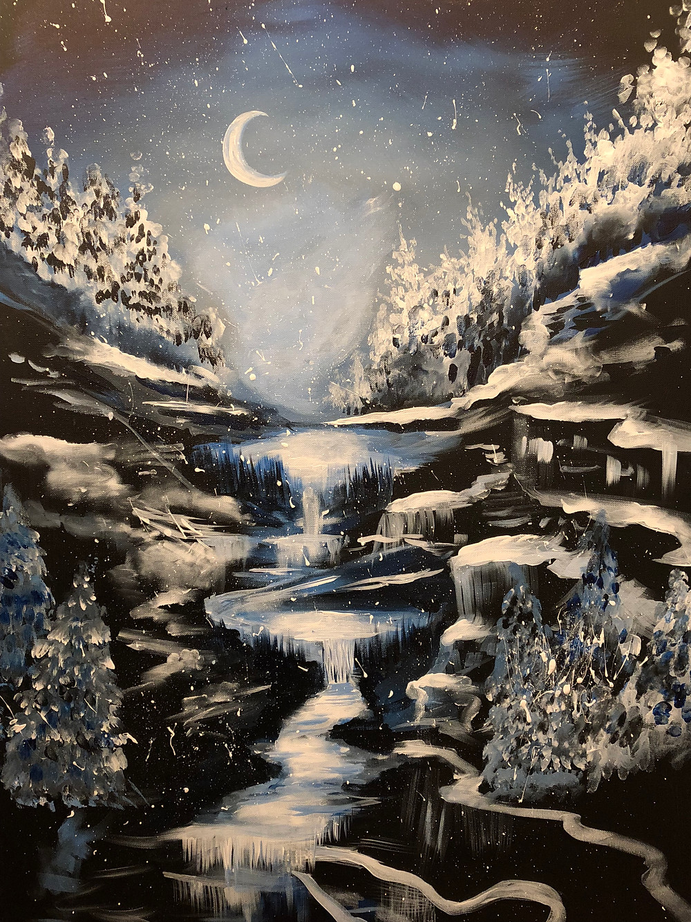 A wintry night-scape