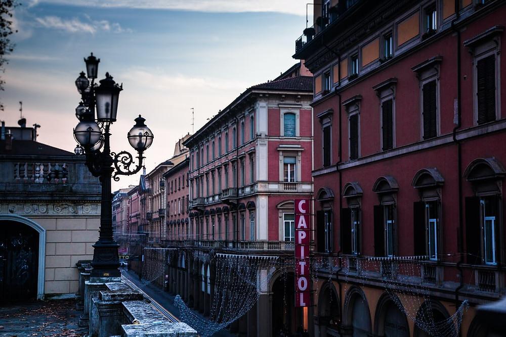 Bologna street, Italy